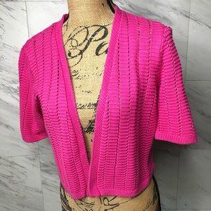Charter Club Pink Shrug Cardigan Bolero Jacket Lrg